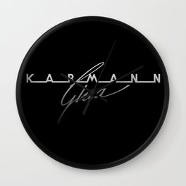 German Automobile Logo Vintage Fifties....the handmade sport coupe body built by Karmann, design by Ghia Wall Clock