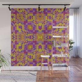 BOTANIC fuchsia pink magenta purple golden yellow abstract print Wall Mural