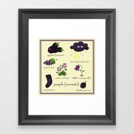 Colors: purple (Los colores: morado) Framed Art Print