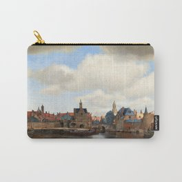 """Johannes Vermeer """"View of Delft"""" Carry-All Pouch"""