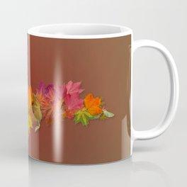 Upper Peninsula Of Michigan Maple Leaves Outline Coffee Mug