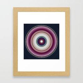 Decorative Wine Dark Blue Mandala Framed Art Print