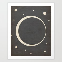 Eclipse- Space is Hot Art Print