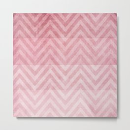 pink chevron II Metal Print