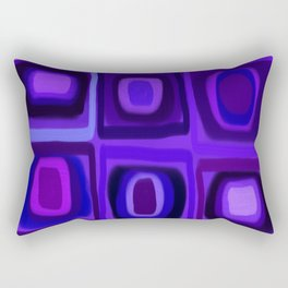 Violets in Blue Windows Rectangular Pillow