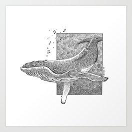 Operatic Whale Art Print