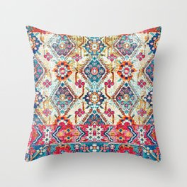N245 - Vintage Oriental Bohemian Colored Traditional Moroccan Fabric Style Throw Pillow