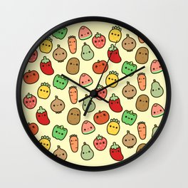 Cute fruit and veg Wall Clock