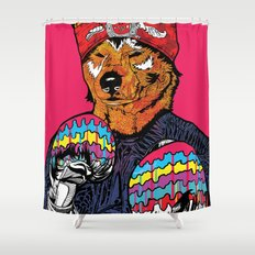 Shiba - The Hustler  Shower Curtain