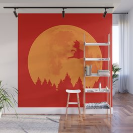 The Moon on Dragon Ball - Orange Wall Mural