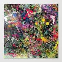 edm Canvas Prints featuring EDM Explosion by Ensors Art