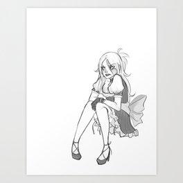 A Bad Girl Art Print