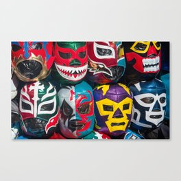 Mexican Wrestler Masks Canvas Print