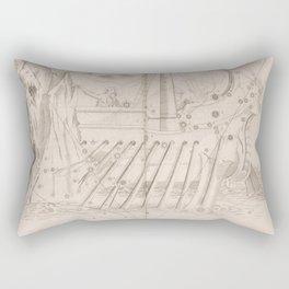 Johann Bayer - Uranometria / Measuring the Heavens (1661) - 38 Argo Navis Rectangular Pillow