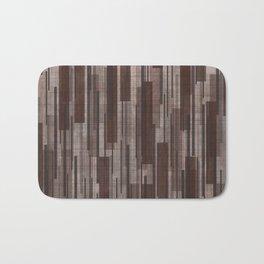 Brown Line Grid Bath Mat