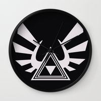 triforce Wall Clocks featuring triforce by Black