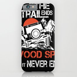 Eagles Glenwood Springs where the trailends city no it never ends women iPhone Case