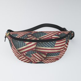 Patriotic Grunge Style American Flag Fanny Pack