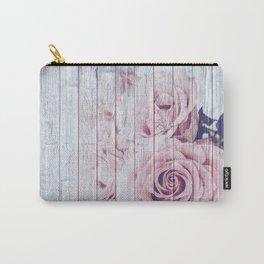 La Vie En Rose Shabby Chic Dusky Pink Rose Carry-All Pouch