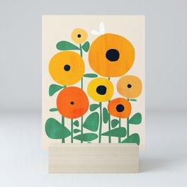 Sunflower and Bee Mini Art Print