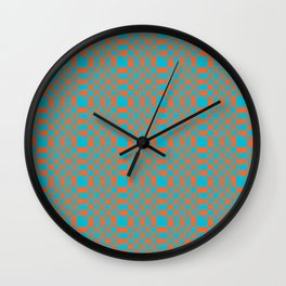 Hand-lettered new year resolutions Wall Clock