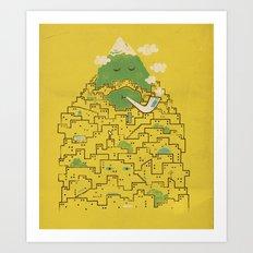 The Bearded City Art Print