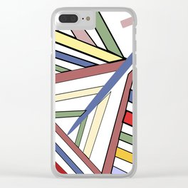 Haphazard Balance II Clear iPhone Case