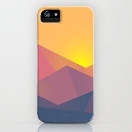 Mountain Sunset Illustration iPhone Case