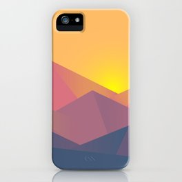 Mountain Sunset Illustration iPhone Case