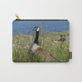Canada Goose in Wild Grass Carry-All Pouch