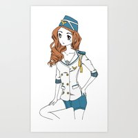 Pin-up Girl Art Print