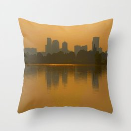 Come Sit With Me At Sloan Lake Downton Denver Colorado Throw Pillow