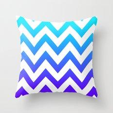 PURPLE & TEAL CHEVRON FADE Throw Pillow