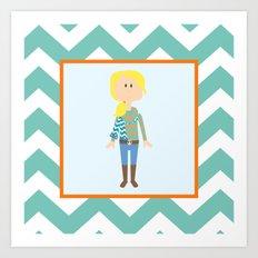 Fashionably Fallish! Art Print