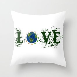 Earth Day Love Mother Earth Throw Pillow