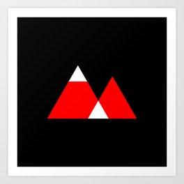 Mountain Triangle Snow Nerd Hipster Art Print