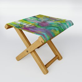 """Winter Grapes"" Surreal Abstract Acrylic by Noora Elkoussy Folding Stool"