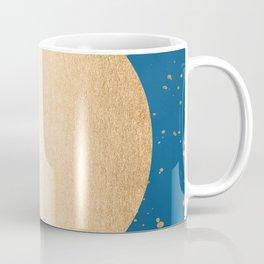 Paint Spatter Sun - Orange Sherbet Shimmer on Saltwater Taffy Teal Coffee Mug
