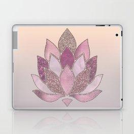 Elegant Glamorous Pink Rose Gold Lotus Flower Laptop & iPad Skin