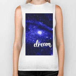 Blue Galaxy Dream Biker Tank