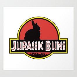JURASSIC BUNS Art Print