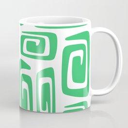 Mid Century Modern Cosmic Abstract 613 Green Coffee Mug