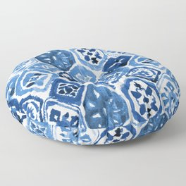 Arabesque tile art Floor Pillow