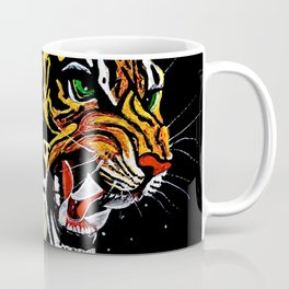 Tiger Stalking Prey Oil Painting Coffee Mug