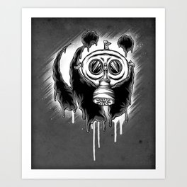 Choked Panda Art Print