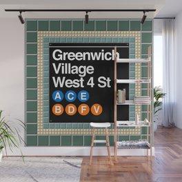 subway greenwich village sign Wall Mural