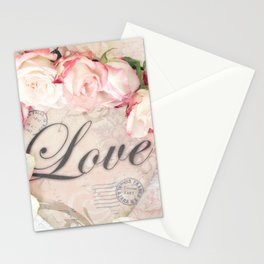 Shabby Chic Love Roses Romantic Decor Stationery Cards