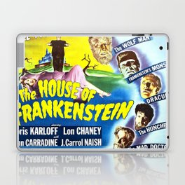 The House of Frankenstein, vintage horror movie poster Laptop & iPad Skin