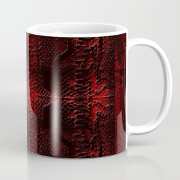 Snake Skin In Red Coffee Mug