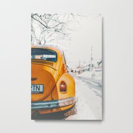 Yellow Taxi (Color) Metal Print